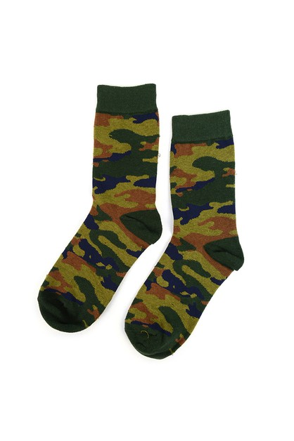 Womens Camouflage Novelty Socks - orangeshine.com
