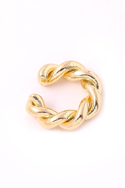 Mini Twisted Hoop Ear Cuff Earrings - orangeshine.com
