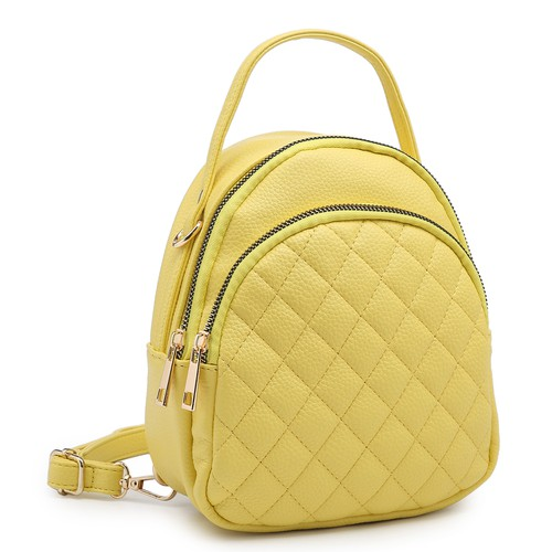 Fashion Quilted Convertible Backpack - orangeshine.com