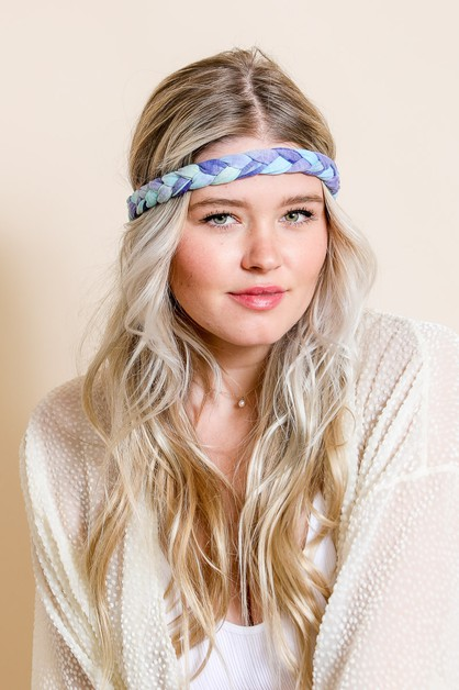 Tie Dye Braided Headwrap - orangeshine.com