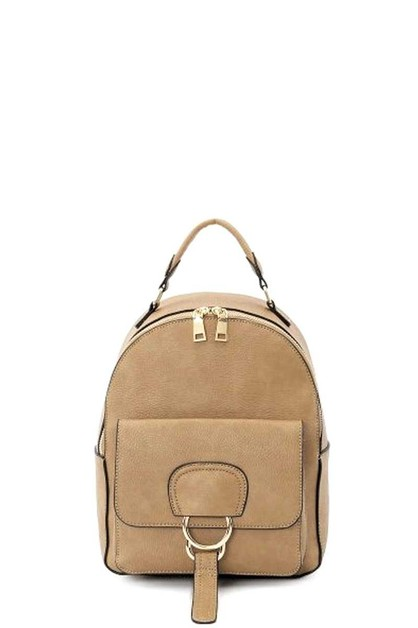 STYLISH PLAIN METAL STRAP BACKPACK - orangeshine.com