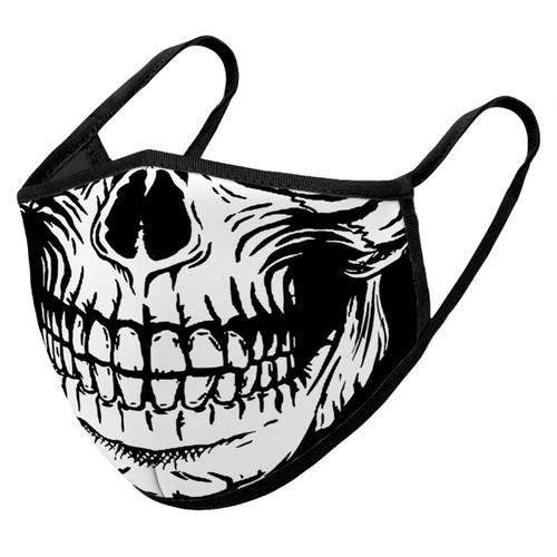 Skeleton Mouth Print Face Mask - orangeshine.com