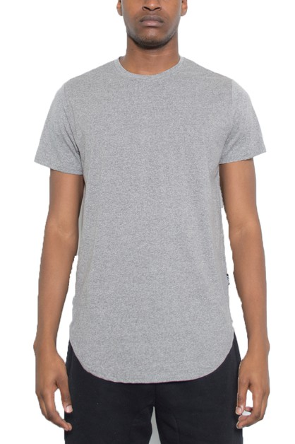 HEATHERED SOLID SCALLOP TSHIRT - orangeshine.com