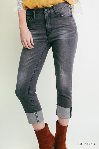 Dark Grey Stretch Jean - orangeshine.com