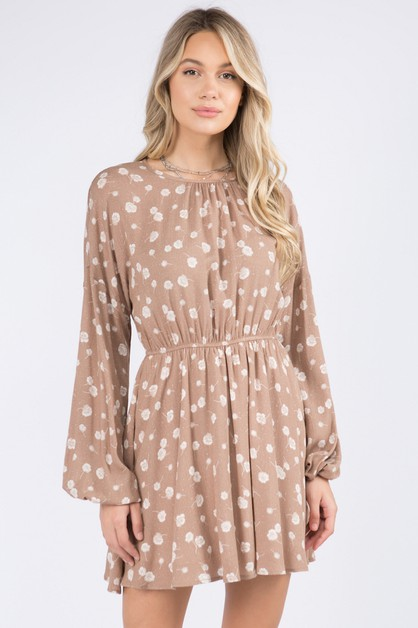 Elastic Waist Casual Pullover Dress - orangeshine.com