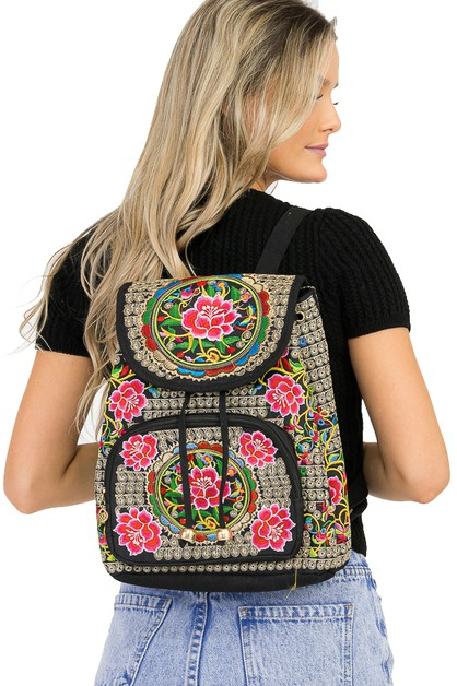 Garden All Embroidery Backpack - orangeshine.com