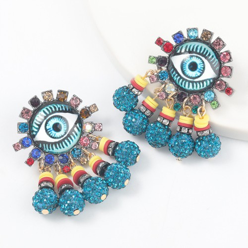 Hot selling evil eye earrings - orangeshine.com