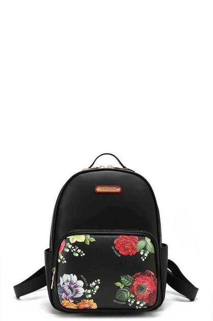 BEAUTY IN THE DARK FLORAL BACKPACK - orangeshine.com