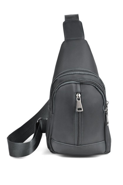 Gray Crossbody Sling Bag - orangeshine.com
