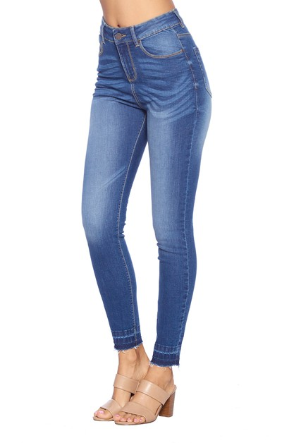 High Waisted Skinny Jeans - orangeshine.com