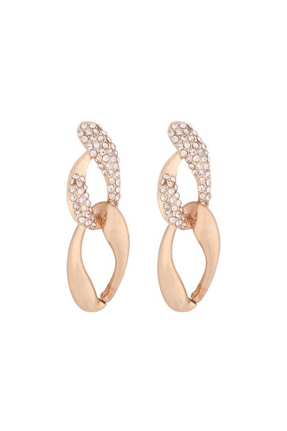 ZIRCONIA INSET FASHION EARRINGS - orangeshine.com