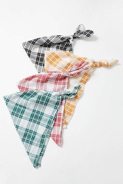 Triangle Flannel Head Scarf - orangeshine.com