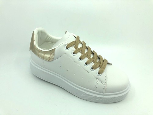 Perforated Croco Multi Low-Top Sneakers - orangeshine.com