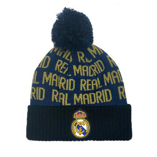 Real Madrid Cuff Pom Adult Beanie - orangeshine.com