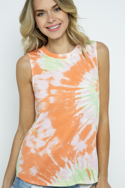 TIE DYE SLEEVELESS TOP - orangeshine.com