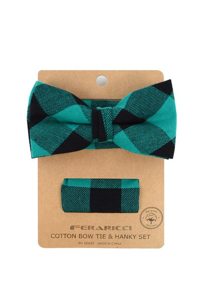 Bow Tie and Matching Pocket Square - orangeshine.com