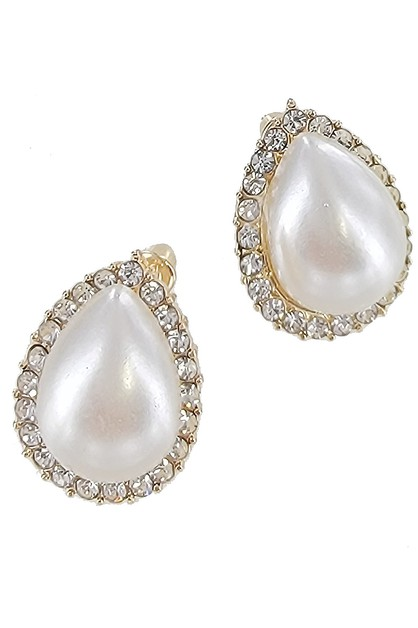 Teardrop Shape Stud Earring - orangeshine.com