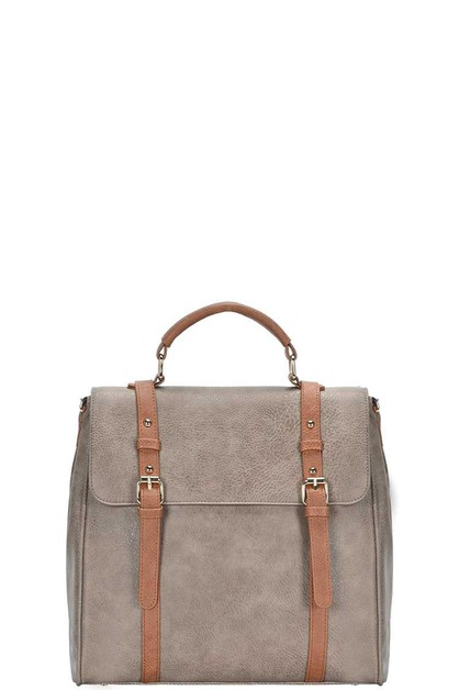 BUCKLE STRAP CROSSBODY BACKPACK - orangeshine.com
