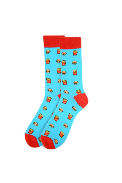 Men Hamburger and French Fries Socks - orangeshine.com