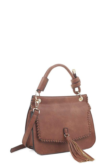 LEATHER HANDLE CROSSBODY BACKPACK  - orangeshine.com