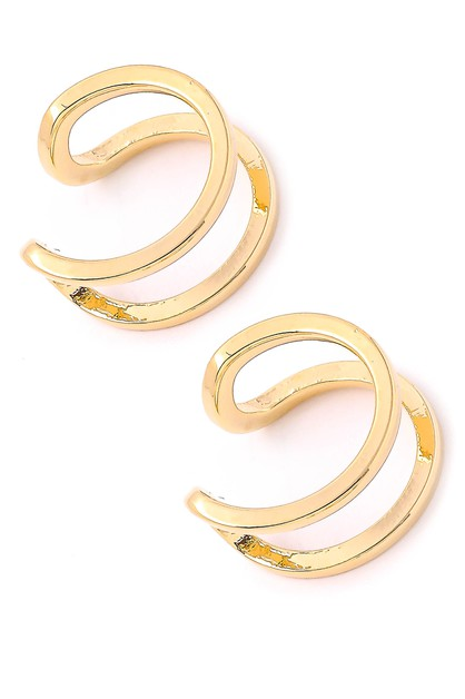 Mini Round Ear Cuff Earrings - orangeshine.com