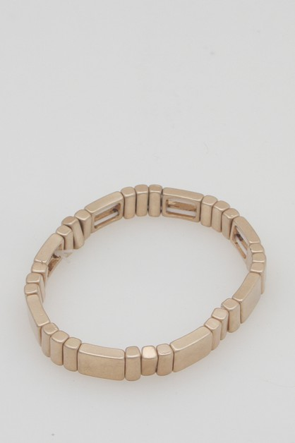 METAL BLOCK STRETCH BRACELET - orangeshine.com