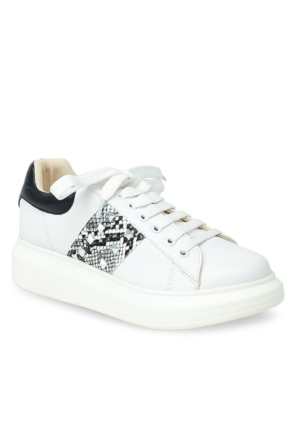 CASUAL SNEAKER PU WITH LACE AND PYRA - orangeshine.com