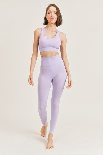 Seamless Sports Bra and Legging Set - orangeshine.com