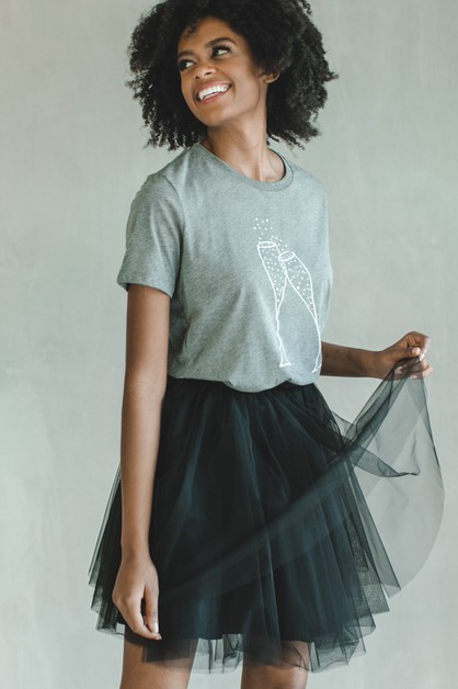 Black Mini Tulle Skirt - orangeshine.com