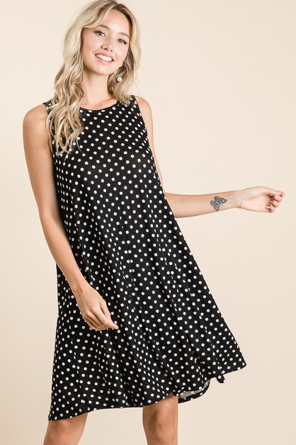 CASUAL POLKA DOT DRESS - orangeshine.com