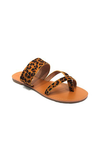 One Sided Toe Ring Slip On Sandals - orangeshine.com