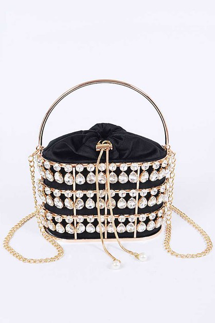 Crystal Iconic Basket Clutch - orangeshine.com