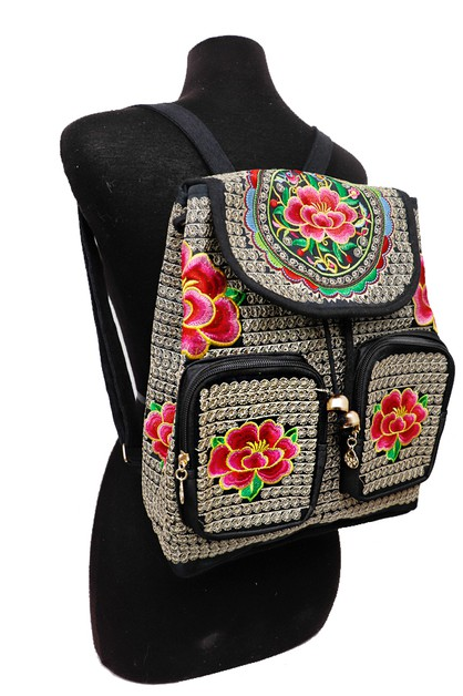 All Embroidery Backpack - orangeshine.com