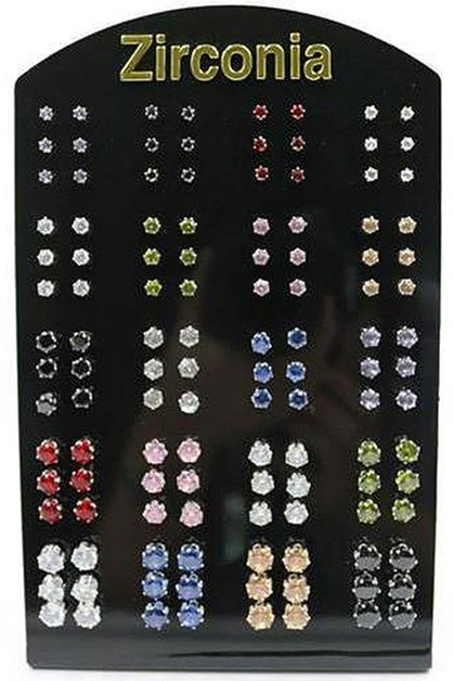 Cubic Stud Earring with Display Case - orangeshine.com