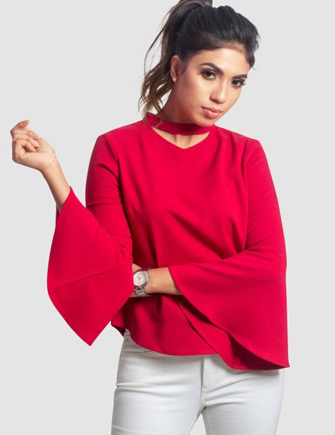 Womens Bell-Sleeve Top - orangeshine.com