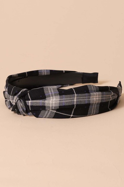 Plaid Headbands - orangeshine.com