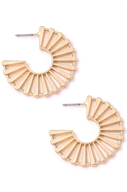 Flat Distorted Hoop Earrings - orangeshine.com