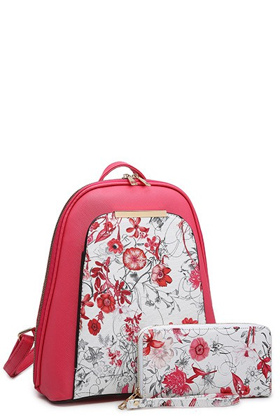 FLOWER PRINT 2 IN 1 BACKPACK - orangeshine.com