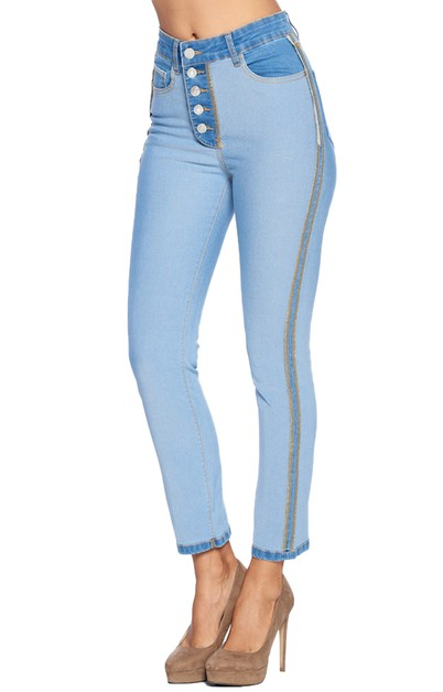 Inside Out Slim Leg Jeans - orangeshine.com
