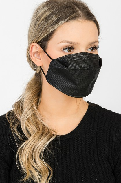 Black KF94 Cotton Mask - orangeshine.com