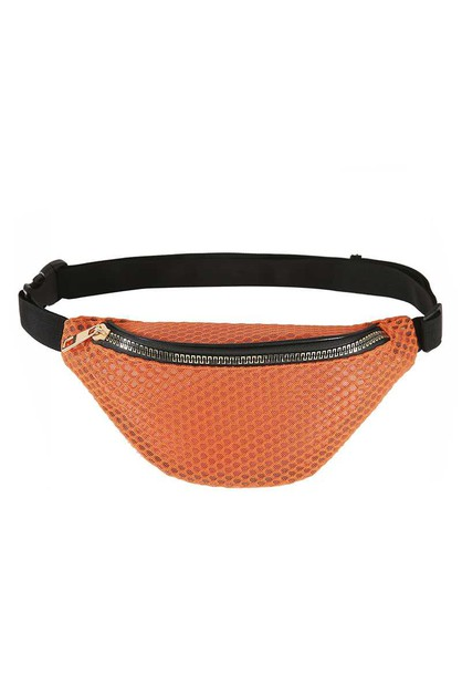 COLOR NET FASHION FANNY PACK - orangeshine.com