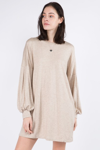 Cashmere Hacci Knit Shift Dress - orangeshine.com