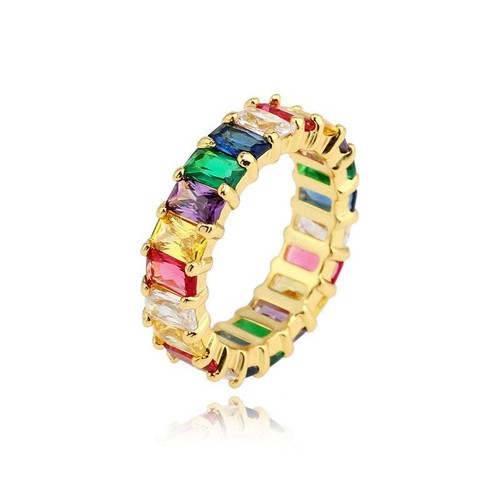 Multicolor crystal ring - orangeshine.com