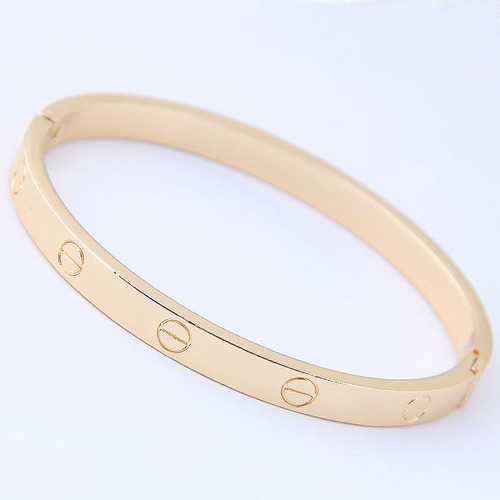Simple metal bracelet bangles - orangeshine.com