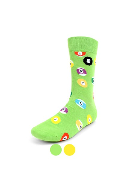 Mens Billiard Novelty Socks - orangeshine.com