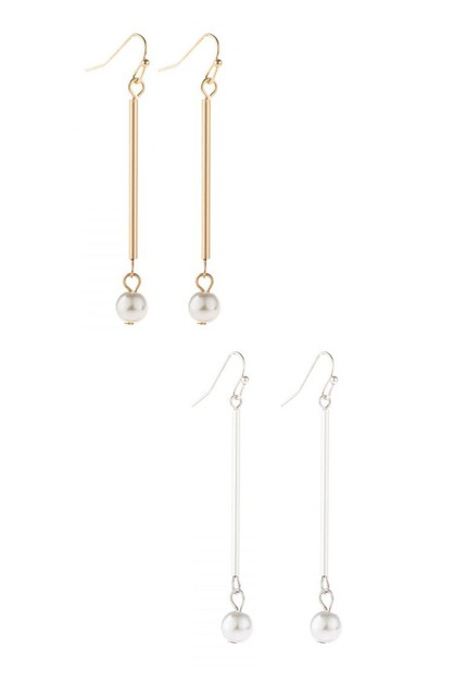 DANGLE PEARL EARRINGS - orangeshine.com