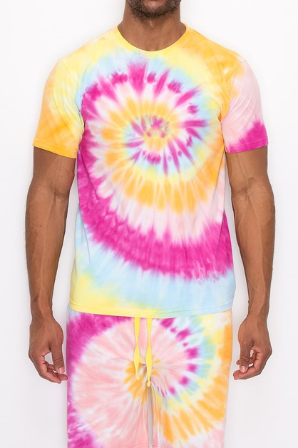 MEN SPIRAL TIE DYE T-SHIRTS - orangeshine.com