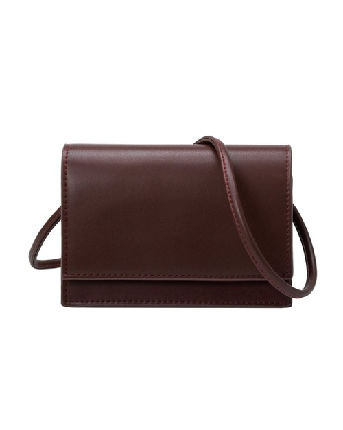 Gina Small Crossbody in Chocolate - orangeshine.com