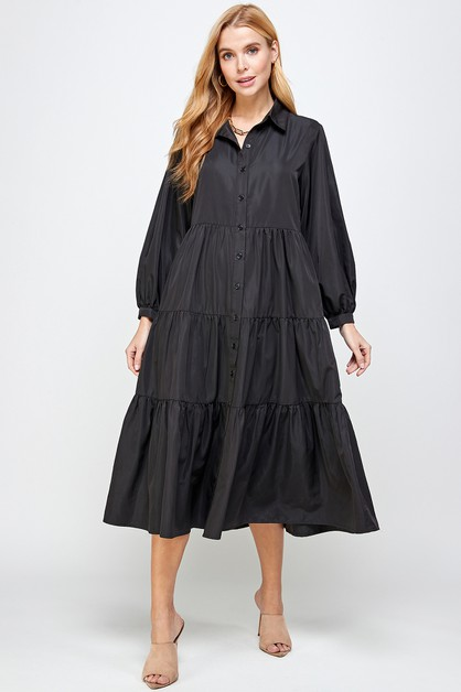 TIERED SHIRT DRESS - orangeshine.com