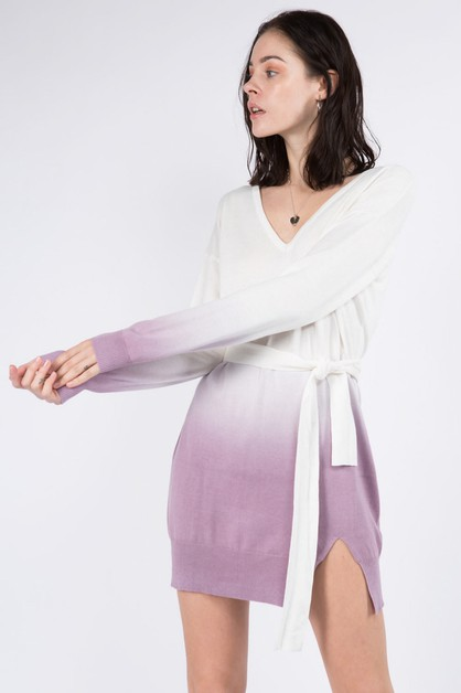 Hand Dip Dye Sweater Dress - orangeshine.com